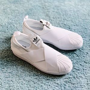 NWT Adidas Superstar Slip-Ons White